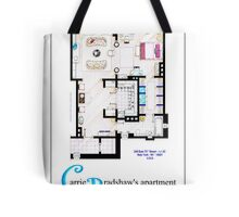 Carrie Bradshaws apartment as a Poster (Movie version) Tote Bag