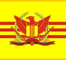 War Flag of South Vietnam by abbeyz71