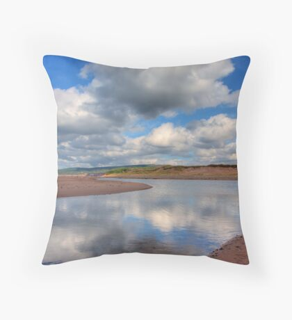 Reflections on Inverness Beach Nova Scotia Throw Pillow