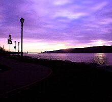 """Purple sunset fresco by David """"Oz""""  Osterczy"""