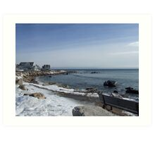 Weekapaug, Rhode Island - Winter 2015 - Overlook Art Print