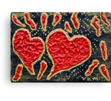 Hearts Aflame Canvas Print