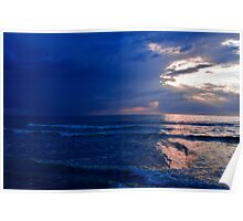 Oostende and the North Sea in Sunset Light Poster
