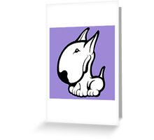 Odie English Bull Terrier Greeting Card