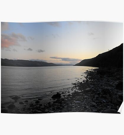 Sunset over Loch Ness Poster