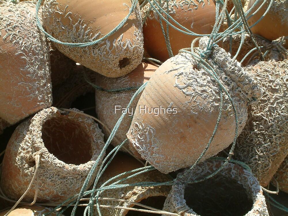 Fishing pots by Fay  Hughes