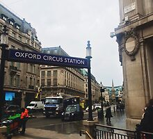 Oxford Circus Station by Tom Lam