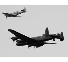 Spitfire and Lancaster formation by Martyn Franklin