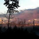 Northern Ontario Misty Sunrise by Geoffrey