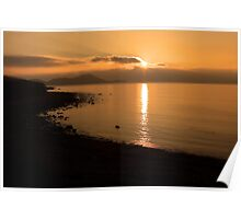 Sunset At Cune Beach Poster