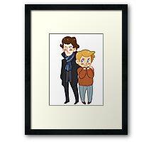 Sherlock and Watson Framed Print