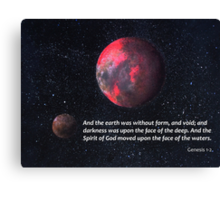 Our Earth's Beginnings Canvas Print