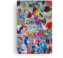 Global Stamps Canvas Print