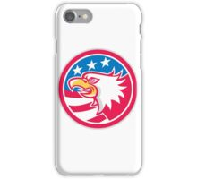 American Bald Eagle Head Flag Circle Retro iPhone Case/Skin