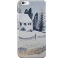 Cottage in the Snow iPhone Case/Skin