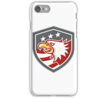 American Bald Eagle Head Flag Shield Retro iPhone Case/Skin