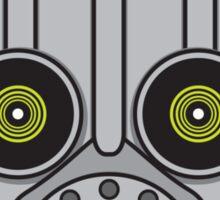 Gasmask Robot Head Sticker