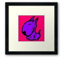 Odie English Bull Terrier Purple  Framed Print