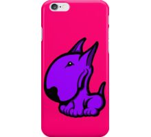 Odie English Bull Terrier Purple  iPhone Case/Skin