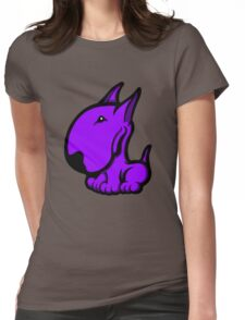 Odie English Bull Terrier Purple  Womens Fitted T-Shirt