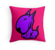 Odie English Bull Terrier Purple  Throw Pillow
