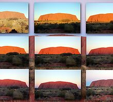 The Changing Colours of Uluru - A Sunset Spectacular by Adrian Paul
