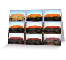 The Changing Colours of Uluru - A Sunset Spectacular Greeting Card
