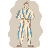 Swiss Guard Standing Sketch by patrimonio