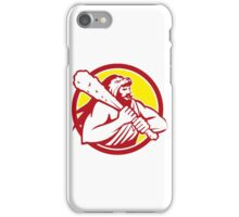 Hercules Lion Skin Wield Club Circle Retro iPhone Case/Skin