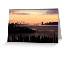 Red sunset in the funnies Greeting Card