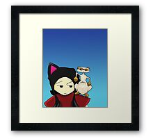 Fuzzy Lump Cover Framed Print