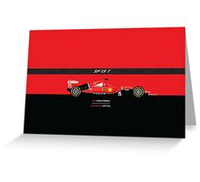 2015 Formula 1 Scuderia Ferrari SF15-T with carbon fiber bar Greeting Card