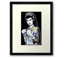 """Title: """"Slave Queen"""" Sophia Loren, Sexy, Two Nights With Cleopatra, Earth Goddess. Framed Print"""