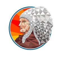 Native American Indian Chief Warrior Low Polygon by patrimonio