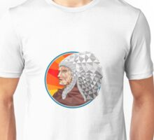 Native American Indian Chief Warrior Low Polygon Unisex T-Shirt