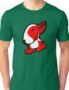 English Bull Terrier Stroll Red Unisex T-Shirt