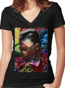 KIRK Women's Fitted V-Neck T-Shirt