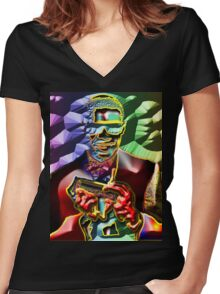 SW Women's Fitted V-Neck T-Shirt