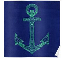 Anchor; Ornate anchor Poster