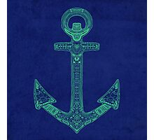 Anchor; Ornate anchor Photographic Print