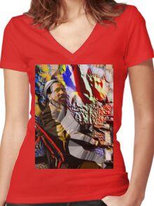 TM Women's Fitted V-Neck T-Shirt