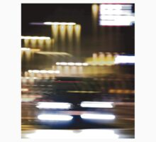 Car in street in urban city lights with distortion effect Kids Clothes