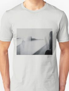 Lady looking at man Analog 35mm black and white lomo film photo T-Shirt