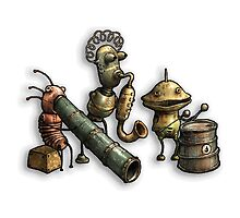 Machinarium's Jazz Band by NikOrfeas