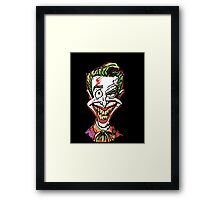 Joker Illustration Framed Print
