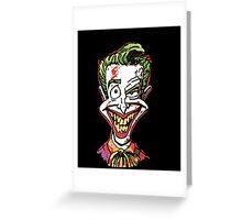 Joker Illustration Greeting Card