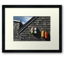 Hanging Buoys  Framed Print