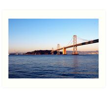 the bay bridge Art Print