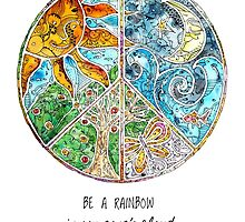 Be a Rainbow by mishyrowan