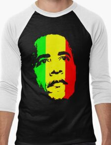 Barack Obama Green Gold and Red t shirt Men's Baseball ¾ T-Shirt